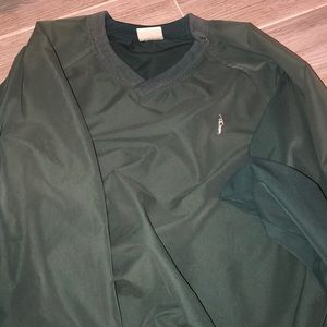 Green windbreaker